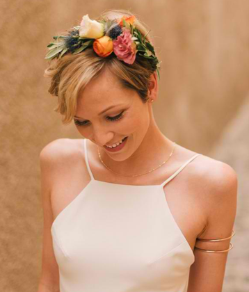 20 stunning wedding hairstyles for short hair