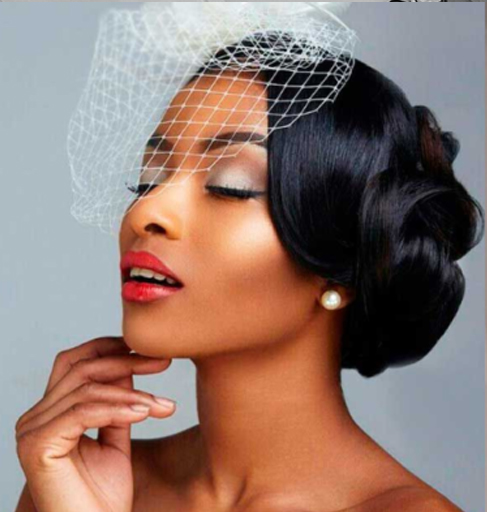 Hairstyle with Veil for Black Women