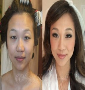 Surprisingly Before and After Wedding Makeup Transformation