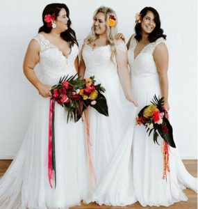 Curvy Plus Size Wedding Gowns with Style